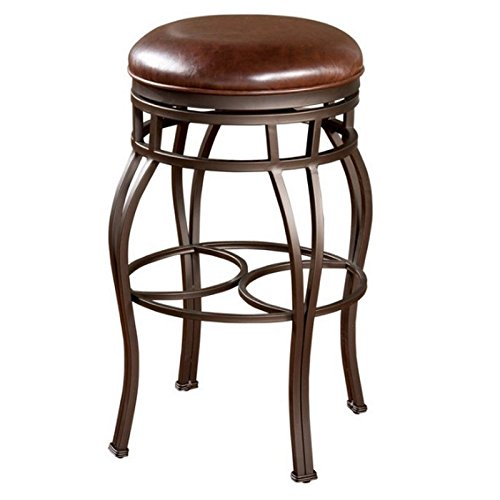 American Heritage Billiards Bella Backless Counter Height Stool, Gray