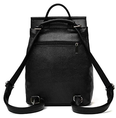 fonctions décontractée sac sac femelle double fermeture bandoulière simple mode scolaire voyage éclair dos capacité solide Lady Black de Sac grande xpv6qw00