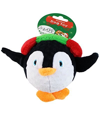 Midlee Penguin Ball Holiday Dog Toy -
