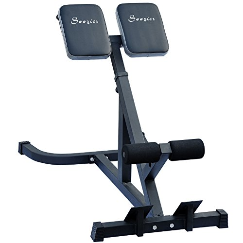 Soozier 45 Degree Hyperextension Back Workout Exercise Bench