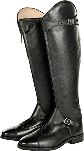 HKM–Botas de equitación Polo Soft Piel estándar de largo/ancho Negro negro Talla:37 Negro - negro