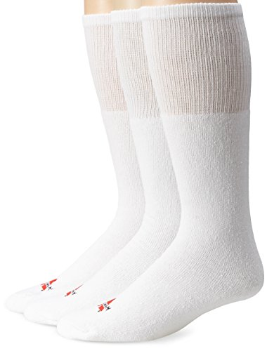 Wigwam Men's Super 60 Tube 3-Pack Over-the-Calf Length Socks,White,OS/Men's 5-13, Women's 6-12
