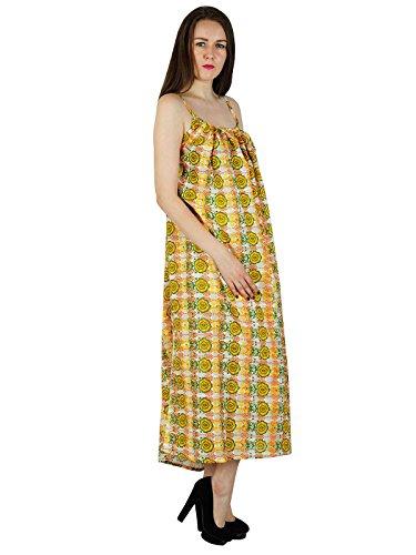 Femmes Robe De Plage Imprimé Floral Nouvelle Robe D'été D'été Tunique Décontractée Au Large Blanc Et Jaune