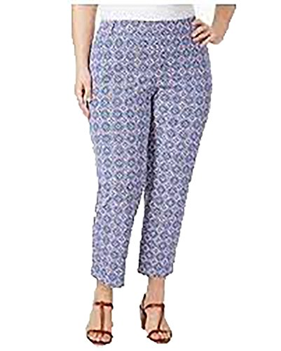 Charter Club Plus Size Newport Tummy-Control Printed Cropped Pants (Modern Blue Combo, - Combo Newport