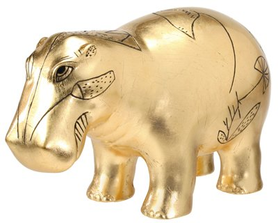 Gold Leaf Hippo - Collectible Figurine Statue Sculpture Figure Egypt from YTC Summit