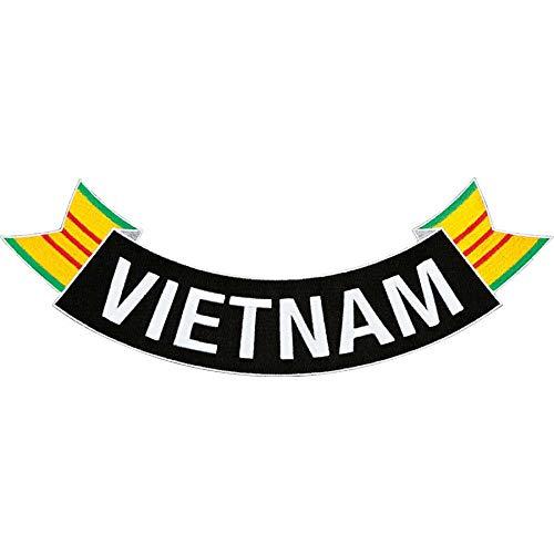 Medals of America Vietnam Ribbon Rocker Patch Black ()