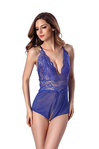 FLH Atractiva ropa interior extremadamente tentadora Tease traje apasionado erogeno ( Color : Rojo , Tamaño : L ) Azul