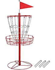 YAHEETECH Disc Golf Basket Portable Metal Disc Golf Target Flying Disc Golf Practice Basket Indoor & Outdoor