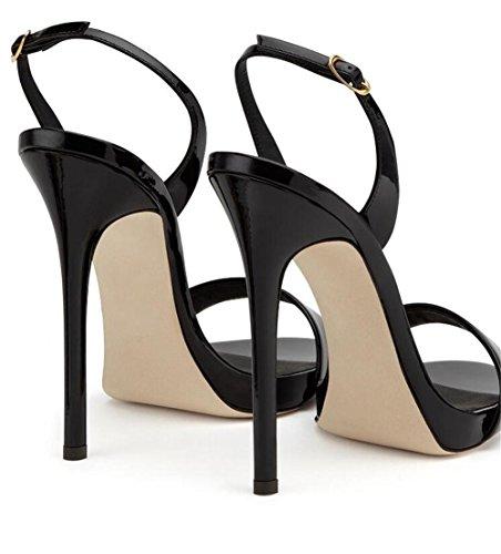 xie Femmes Chaussures Party Club Robe Stiletto Escarpins Escarpins Sandales Taille 35 à 44 BLACK-EU42 bnsUO