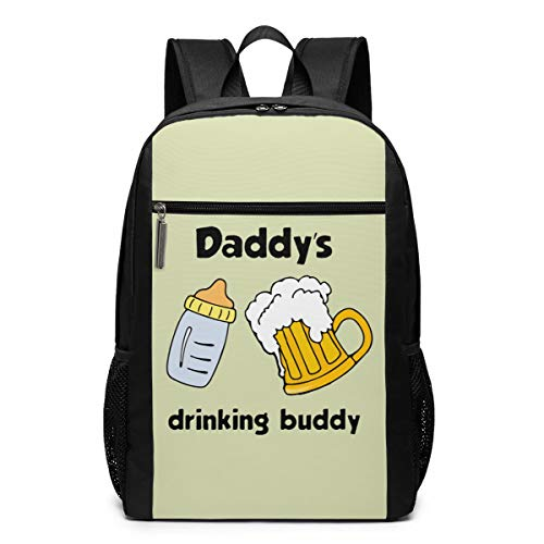 Daddy's Drinking Buddy Laptop Computer Backpack Business Stylish Casual Travel Bags 17 Inch