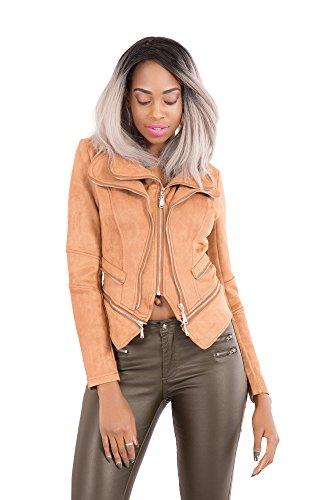 LustyChic para claro Mujer Chaqueta marrón 8zWrv8wq
