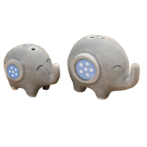 Salt & Pepper Shakers - elephant Pups and mom Magnetic Salt And Pepper Shakers-Elephant-set (Pups Salt)