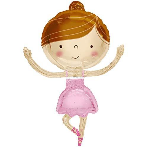 Pink Ballerina 36'' Mylar Balloon Happy Birthday Party Decorations Supplies