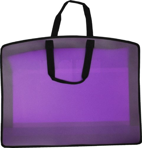 Filexec Carry All Bag, In-Side Pocket, Business Card Slot, Zippered Closure, 21''x27'', Purple (34964) by Filexec