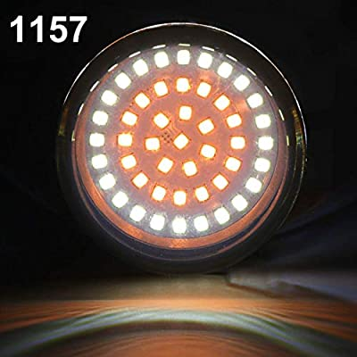 CICMOD Bullet Style 1157 Front 1156 Rear LED Turn Signal Lights Kit Len Covers for Harley Dyna: Automotive