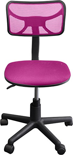 Urban Shop Swivel Mesh Task Chair, Pink