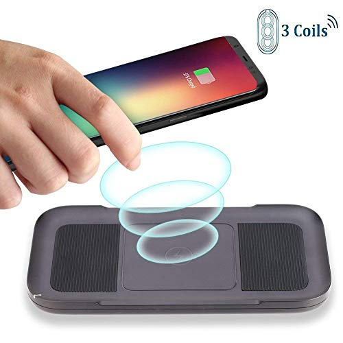 Wireless Charger AYOUYA 3-Coil Qi Fast Wireless Charging Pad 7.5W Fast Charging Mode for iPhone X 8 8 Plus and All Qi-Enabled Devices 10W Fast Charge for Samsung Galaxy S9 S9 Plus Note8 S8 S8 Plus S7