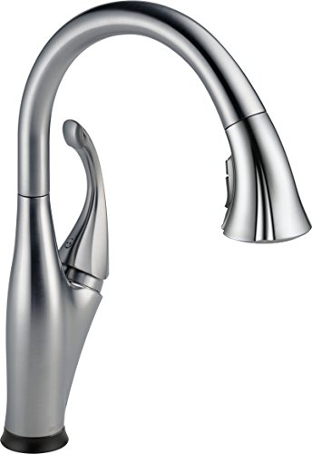 Delta Addison Single Handle Pull-Down Kitchen Faucet with Touch2O and ShieldSpray Technologies, Arctic Stainless