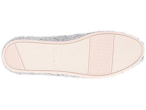 on Seasonal Silver Slip Women's Metallic Shoes Classics TOMS Crochet BPYdqgwIqx