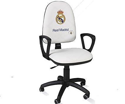 Real Madrid Silla de escritorio giratoria ergonómica con ...
