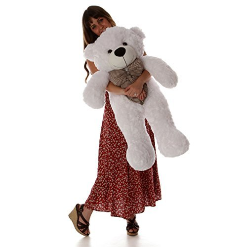 Cuddle White Bear - Giant Teddy Brand - 38 Inch Super Soft and Plush Cute Teddy Bear with Premium Long Fur (Snow White)