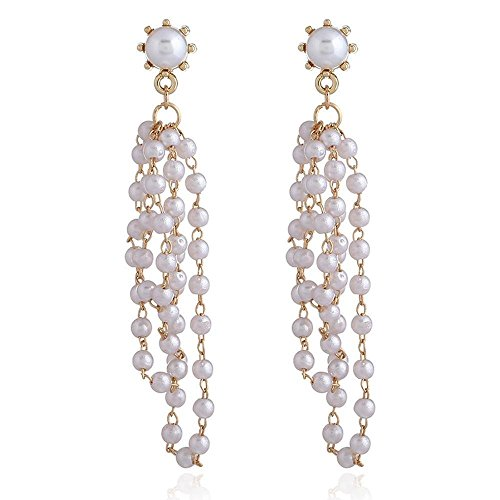 kaige Earrings Grape-Channeling large pearl stream Sur ornaments 27.2cm European and American style fashion earrings -