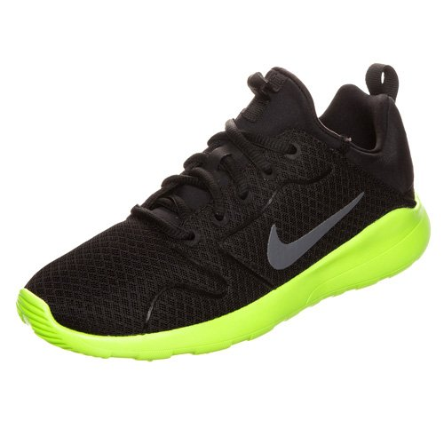 (Nike Kid's Kaishi 2.0 (GS), Black/Dark Grey-Volt, Youth Size 5)