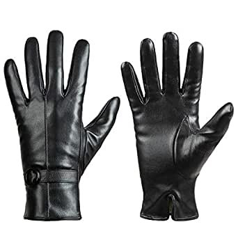 Womens Winter Leather Touchscreen Texting Warm Driving Lambskin Gloves 100% Pure (S)