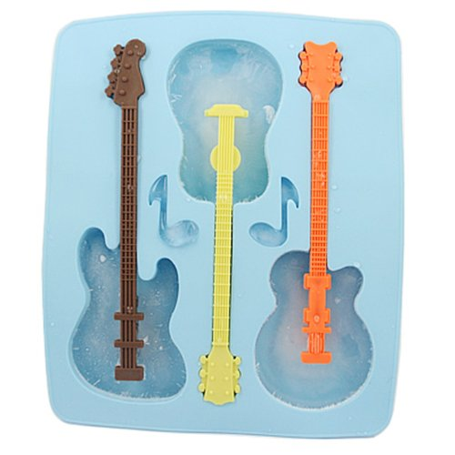 HDE Guitar Silicone Chocolate Stirrers