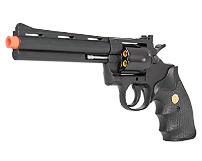 UKARMS P2300 Spring Airsoft Gun - 6 SHOT 357 MAGNUM REVOLVER w/Shells + 6mm BBs (Black)