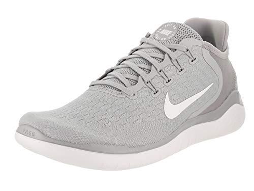 (Nike Men's Free RN 2018 Wolf Grey/White/Volt Size 9 M)