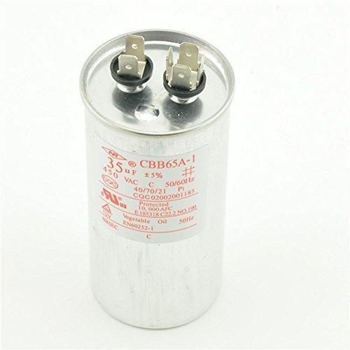 Capacitor AC 450V 35uF 50/60Hz Air Conditioner Motor Run CBB65A-1 CBB65 ()