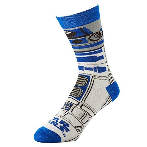 Star Wars R2d2 Mens Crew Socks  Sock Size  10 13   Shoe Size  6 12