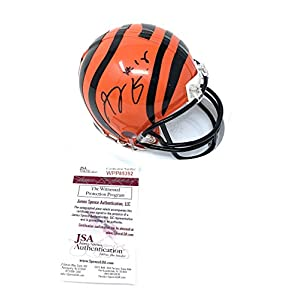 AJ Green Cincinnati Bengals Signed Autograph Mini Helmet JSA Witnessed Certified