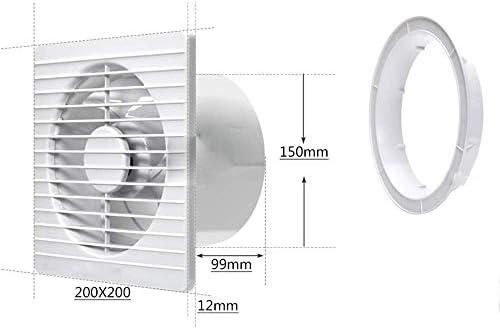 AK Haushalts-Abluftventilatoren Badezimmer Glasfenster Typ Belüftung Badezimmerwand rund Leistungsstarker Dämpfer Dünn
