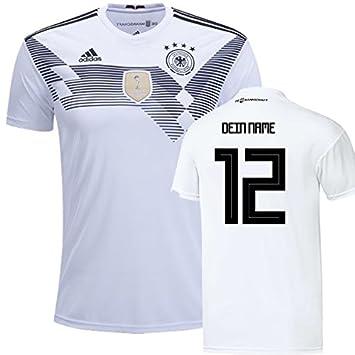 adidas DFB Deutschland Trikot WM 2018 (Heimtrikot) mit gratis Original Beflockung Eigennamen oder Wunschspieler, Müller, Kimmich, Hummels, Götze,
