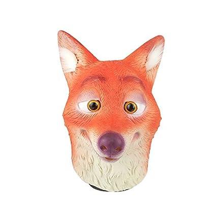 Máscara de látex de naturaleza perezoso Fox conejo cabeza completa máscara fiesta de disfraces de Halloween