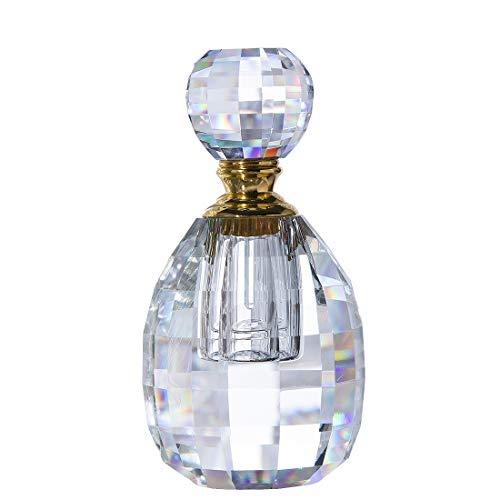 Art Deco Bottle - H&D HYALINE & DORA Crystal Art Deco Vintage Style Perfume Bottles Empty Glass Refillable 3ml