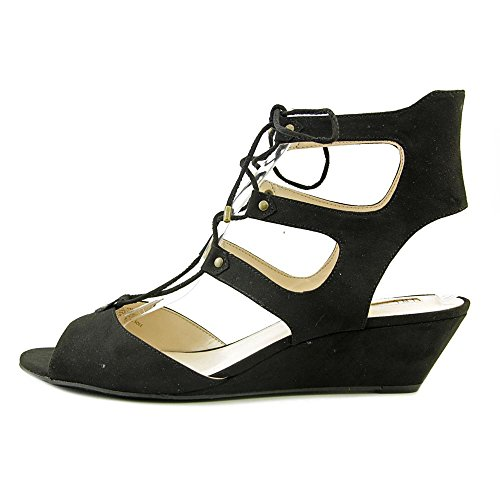 INC International Concepts Womens Mandie Fabric Open Toe Casual Strappy Sandals Black 8Bkbj