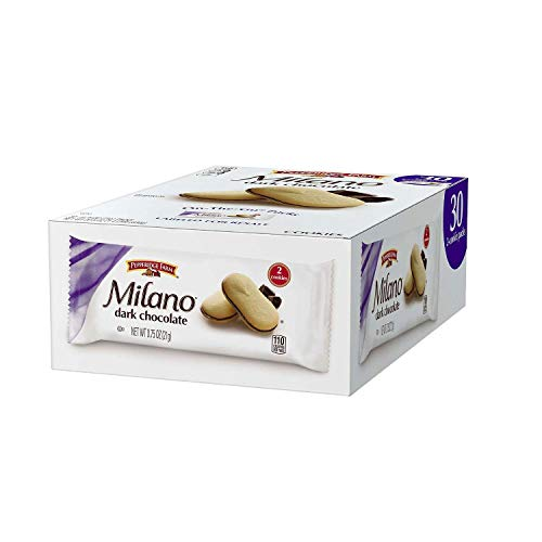 Pepperidge Farm Milano Cookies, Dark Chocolate, 1 Box (22.5 Ounce, 30 Packs)