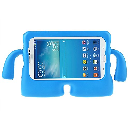 Galaxy Tab 3 Lite Case 7.0 Inch Tablet Case MUZE? Protective Rubberize EVA Foam Childproof Shockproof Cover Case Durable Light Weight Cute Cartoon Kids Case for Samsung Galaxy Tablet 2 /3 /3 Lite / 4 /Q (7.0 Inch/Blue) (Case Cartoons Galaxy Tab 4)