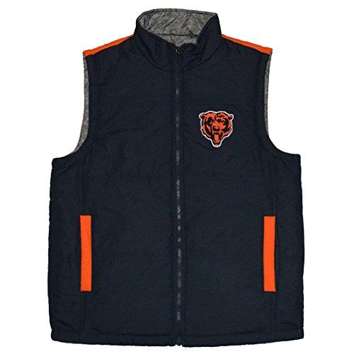 - Sweet Spot Mens CHI Bears Athletic Zip-Up Fall/Winter Reversible Vest Jacket L Multicolor