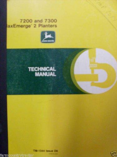 John deere 7300 integral maxemerge 2 planter operator manual book.
