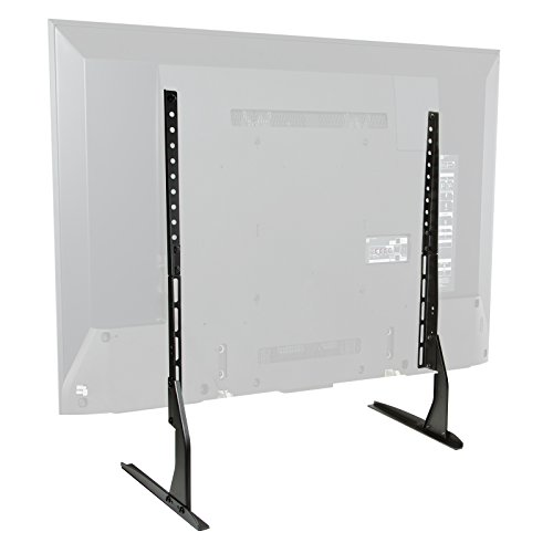 Tv Steel Stand Modern (Mount Factory Modern Tabletop TV Stand - Universal Flat Screen Base Replacement for 24