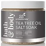 ArtNaturals Tea Tree Foot Soak Salt with Epsom Salt, Fights Athletes Foot and Nail Fungus, Helps to Soften Calluses, 20 oz.