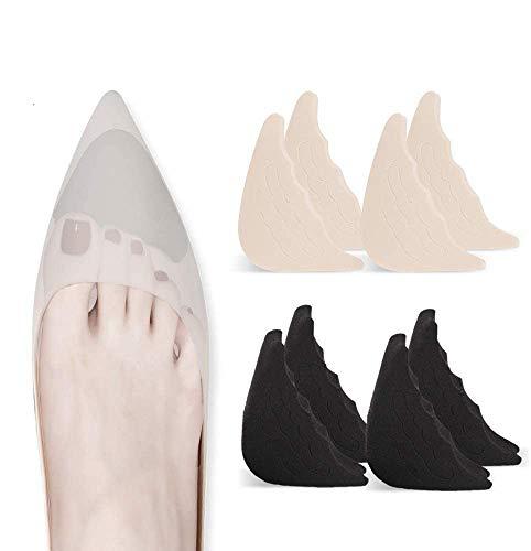 4 Pairs Toe Filler Inserts Adjustable Toe Plug Reusable Shoe Filler for Too Big Shoes for Women Men Unisex Pumps Flats…