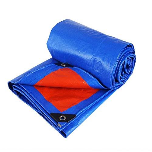苛性酸っぱい受粉者CHAOXIANG ターポリン 厚い 防雨 日焼け止め 両面 シェード 耐摩耗性 PE 厚さ0.35mm、 カスタマイズ可能な (色 : 青, サイズ さいず : 1.8mx4.8m)