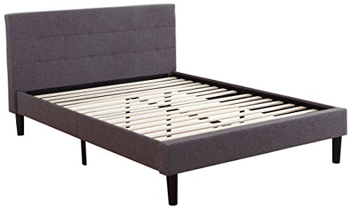 DIVANO ROMA FURNITURE Deluxe Tufted Platform Bed Frame w/Wooden Slats from DIVANO ROMA FURNITURE