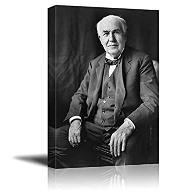 Portrait of Thomas Edison Inspirational Famous People Series, Created By a Professional Artist, Stunning Picture