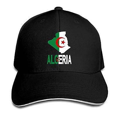 Algeria Map Flag and Text Adjustable Baseball Caps Sandwich Cap